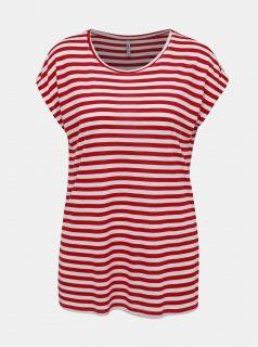 Bílo-červené dámské pruhované tričko Haily´s Glenn