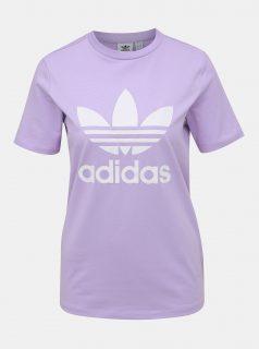 Světle fialové dámské tričko s potiskem adidas Performance