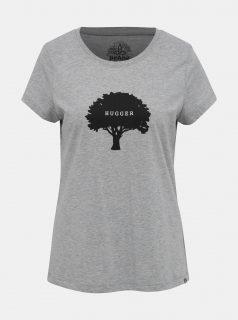 Šedé žíhané tričko s potiskem prAna Graphic tee