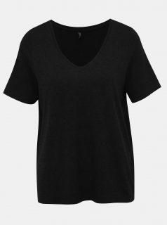 Tmavě šedé volné basic tričko ONLY Moster