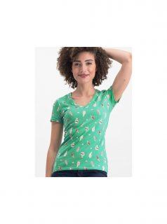 Zelené vzorované tričko Blutsgeschwister