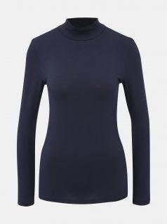 Tmavě modré basic tričko s rolákem Selected Femme Mio
