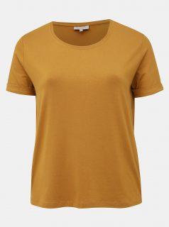 Hořčicové basic tričko ONLY CARMAKOMA Carma