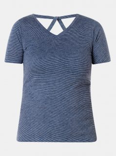 Modré pruhované tričko Yest