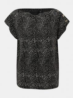 Černé tričko s hadím vzorem Dorothy Perkins