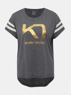 Šedé tričko s potiskem Kari Traa Vilde