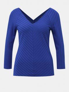 Modré žebrované tričko ONLY Gina