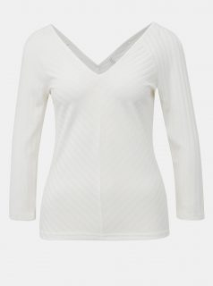 Bílé žebrované tričko ONLY Gina