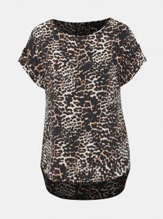 Krémovo-černá halenka s gepardím vzorem Dorothy Perkins