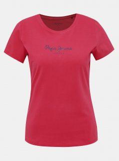 Červené dámské tričko s potiskem Pepe Jeans New Virginia