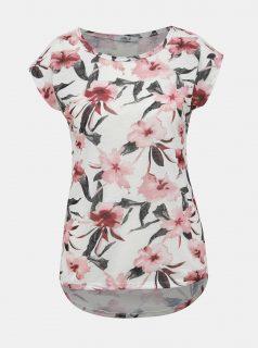 Růžovo-bílé dámské květované tričko Haily´s Jana