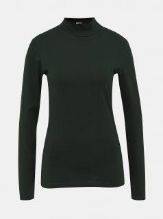 Tmavě zelené tričko se stojáčkem Jacqueline de Yong Ava