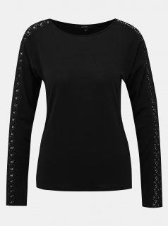 Černé tričko s krajkou VERO MODA Celena