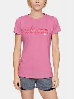 Růžové dámské tričko Script Under Armour