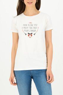 Blutsgeschwister bílé tričko Tic Tac Tee Simply White