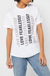 Converse bílé tričko s nápisy