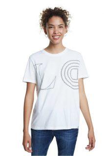 Desigual bílé tričko TS Paris