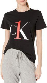 Calvin Klein černé tričko S/S Crew Neck s logem