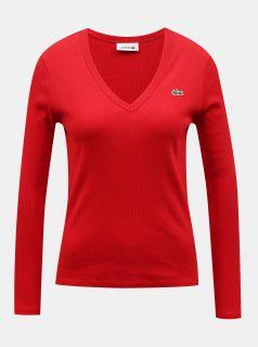 Červené dámské tričko Lacoste