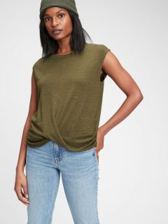 Zelené dámské tričko GAP