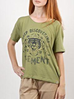 Element TIGER                DEEP MOSS dámské triko s krátkým rukávem – zelená