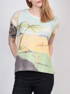 Roxy TENERIFE TENH dámské triko s krátkým rukávem – žlutá