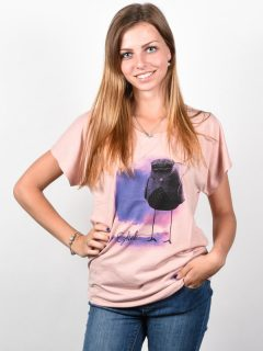 Ezekiel Polkabird MIRO dámské triko s krátkým rukávem – růžová