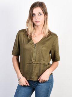 RVCA CLULESS BURNT OLIVE dámské triko s krátkým rukávem – zelená
