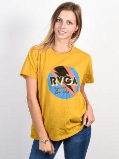 RVCA VOLT HARVEST GOLD dámské triko s krátkým rukávem – žlutá