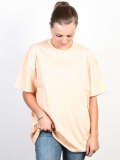 Vans OVERTIME OUT BLEACHED APRICOT dámské triko s krátkým rukávem – béžová