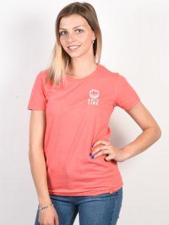 Spitfire STEADY ROCKIN CRL/WHT dámské triko s krátkým rukávem – růžová