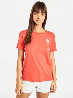 Billabong COSMO SUNSET RED dámské triko s krátkým rukávem – červená