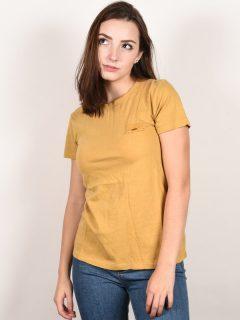 Rip Curl STOKE MERCHANTS FALL LEAF dámské triko s krátkým rukávem – žlutá