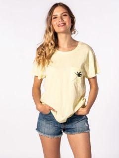 Rip Curl MINIMALIST WAVE WAX YELLOW dámské triko s krátkým rukávem – žlutá
