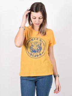 RVCA ALOHATIGER AMBER dámské triko s krátkým rukávem – žlutá