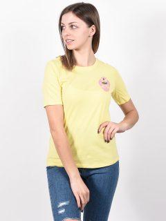 Element MODERN POPCORN dámské triko s krátkým rukávem – žlutá