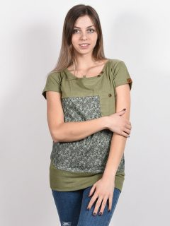 Alife and Kickin CORAAK DUST dámské triko s krátkým rukávem – zelená