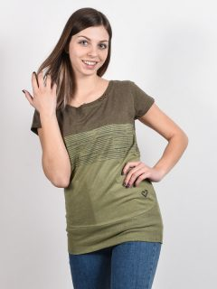 Alife and Kickin CLEAAK DUST dámské triko s krátkým rukávem – zelená