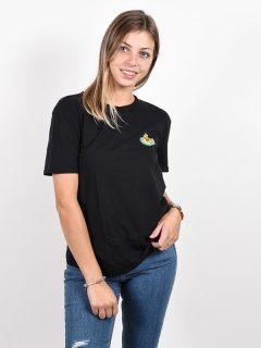 Volcom Lock It Up black dámské triko s krátkým rukávem – černá