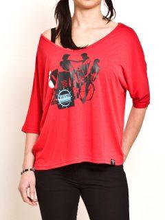Vehicle THERIDER RED dámské triko s dlouhým rukávem – červená