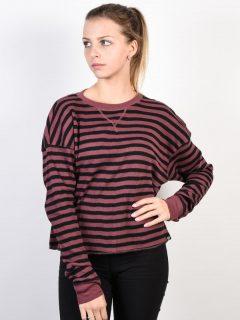 Fox Striped Out ROSE dámské triko s dlouhým rukávem – červená