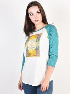 Burton ASHMORE STOWHT/GBSLAT dámské triko s dlouhým rukávem – zelená