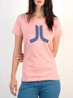 WESC Icon rose blush dámské triko s krátkým rukávem – růžová