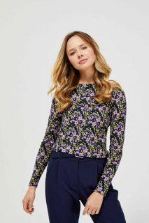 Moodo barevné tričko s květinovým potiskem