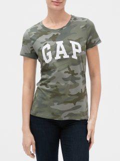 Zelené dámské tričko GAP Logo ss clsc tee