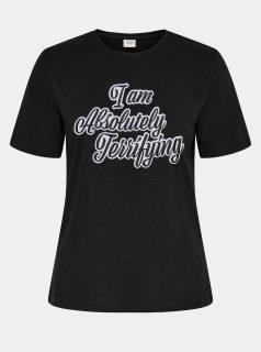 Černé tričko s potiskem Jacqueline de Yong Hyde
