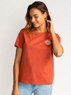 Billabong VERA CRUISE BRICK dámské triko s krátkým rukávem – červená