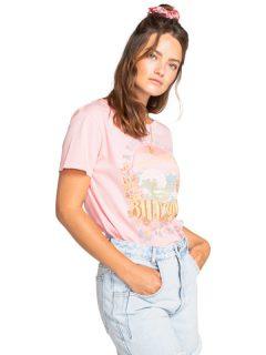 Billabong DAY DREAM AWAY GERANIUM dámské triko s krátkým rukávem – růžová