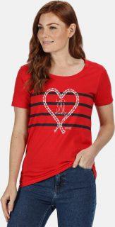 Dámske tričko Regatta RWT190  Červená