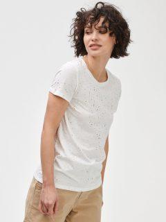 Bílé dámské tričko GAP Logo favorite crewneck t-shirt